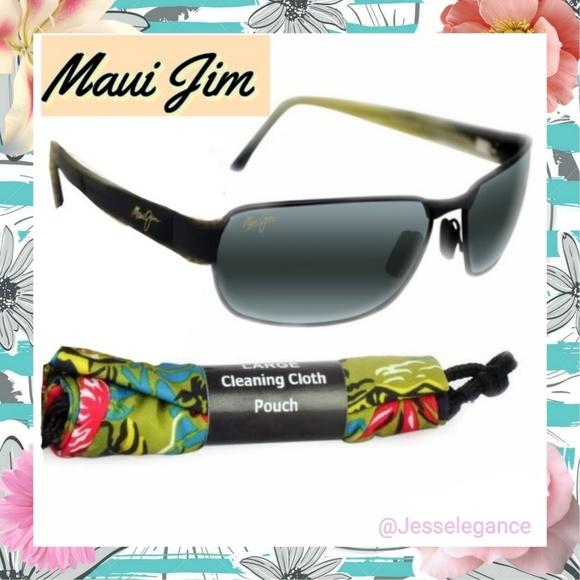 b115ff40556 MAUI JIM 249-2M BLACK CORAL POLARIZED Sunglasses
